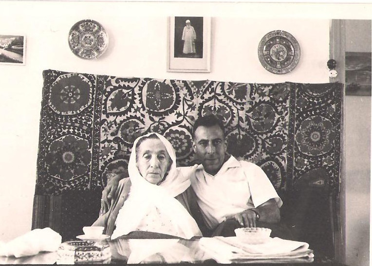 Ruha Khanum with her youngest son, Hassan Jalal Shahid 1961