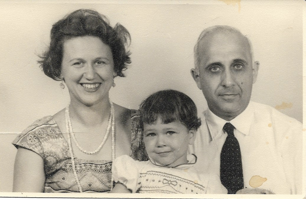 Hossein Rabbani with his wife Gerda and daughter Zia 1958