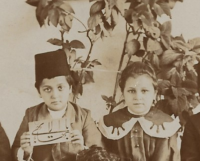 Shoghi Effendi and his sister Ruhanguise