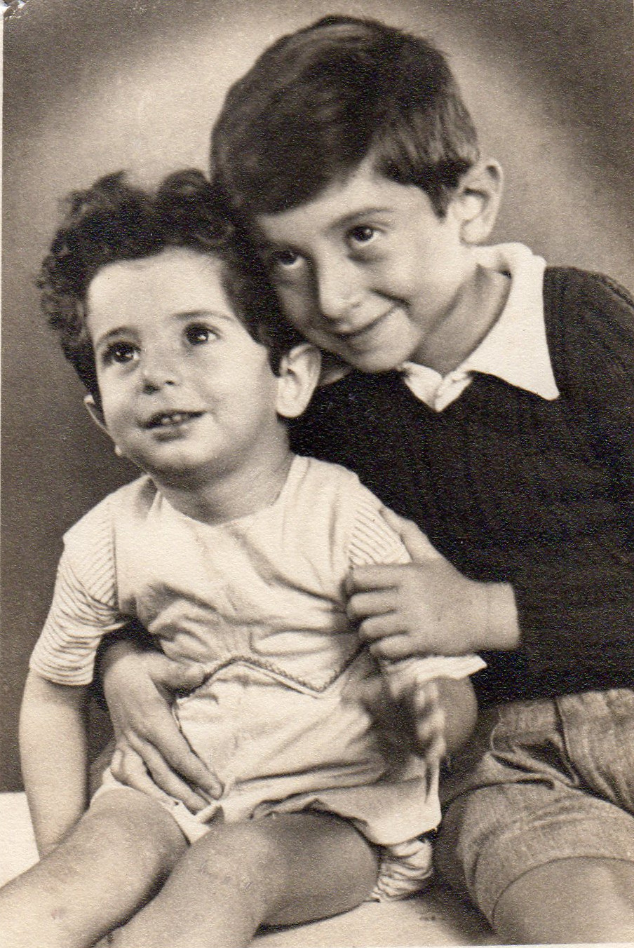 Right : Iraj Afnan Left : Parviz Afnan 1947